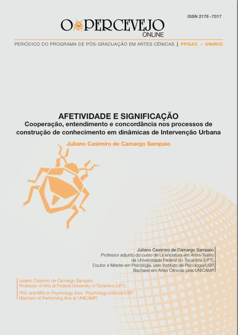 AFETIVIDADE E SIGNIFICAÇÃO  cooperação, entendimento e concordância nos processos de construção de conhecimento em dinâmicas de Intervenção Urbana